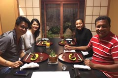 CEO of ABC Group of Mauritius Mr.Dean Ah Chuen and his wife's visit to Japan.