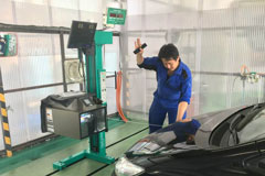 Latest road-worthiness system is Installed in Sayuri vehicle maintenance center