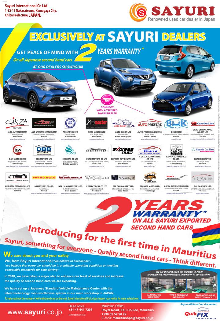 Sayuri Car Warranty in Mauritius